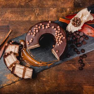 Baumkuchen mit Nougat-Füllung