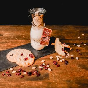 cookie backmischung im glas cranberry