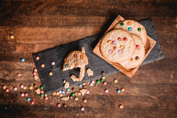 smarties cookies im glas